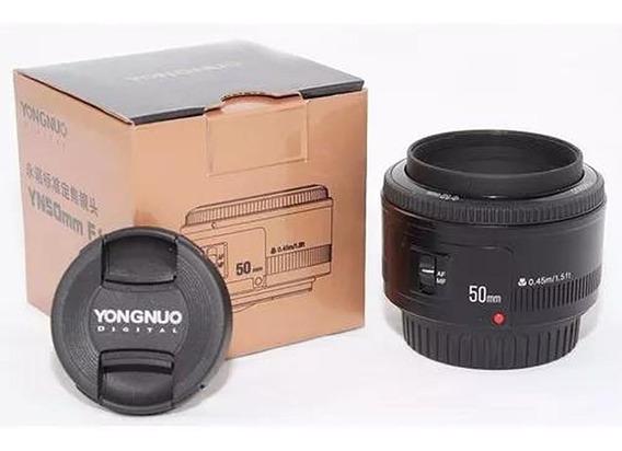 Lente 50mm F/1.8 Yongnuo P/ Canon T3i T5i T6 60d 70d 80d 5d Mark Etc...