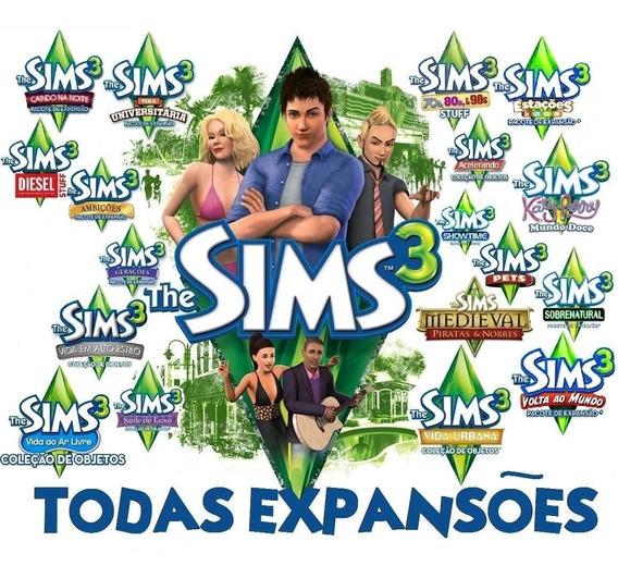 The Sims 3 + Todas Expansões + Tudo Que Existe Envio Na Hora