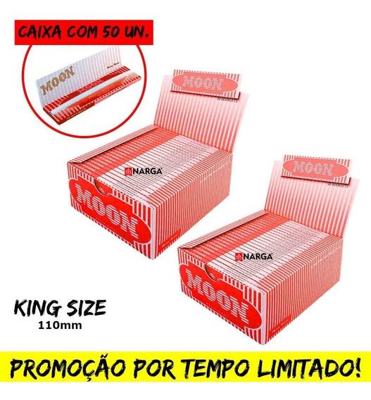 2 Caixa De Seda Moon Vermelho Smoking Kingsize Preço Atacado