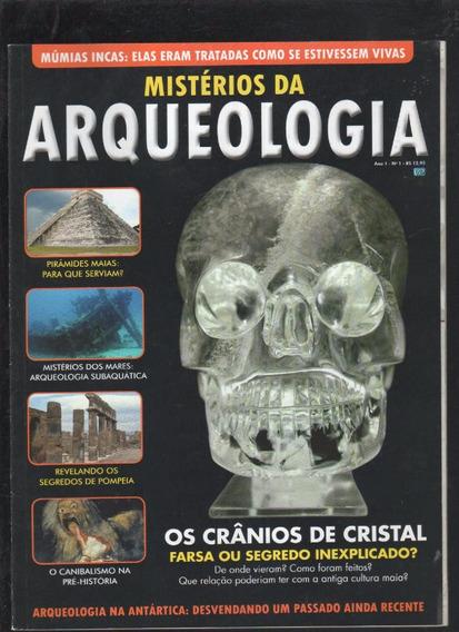 * Mistérios Da Arqueologia Nº 1 Os Crânios De Cristal - B9