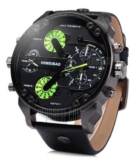 Relógio Masculino Shiweibão A3137 Preto Lindo Dual Moviment