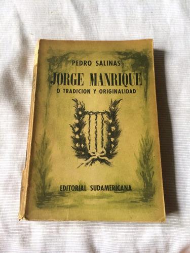 Imagen 1 de 5 de Jorge Manrique Pedro Salinas Editorial Sudamericana