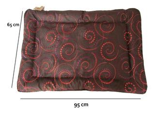 Tapete Cama Perro Arabesque Chocolat Espiral Mediano 95x65cm