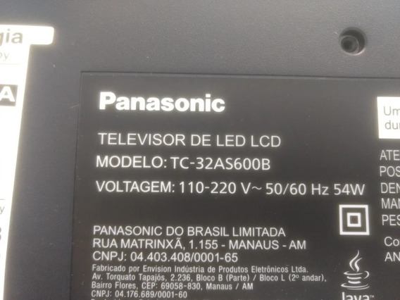 Tela Display Panasonic Tc 32as600b Retirar