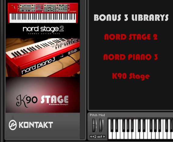 Nord Stage 2 + Nord Piano 3 + K90 Stage Library Para Kontakt