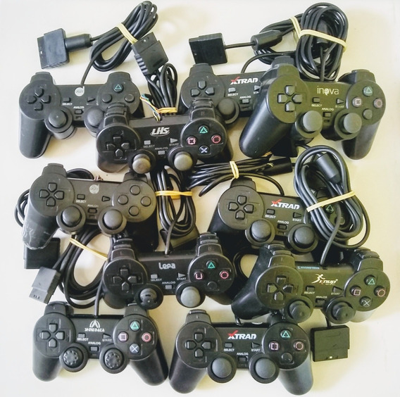 Lote 10 Controles (paths) De Playstation 2 Com Defeito.