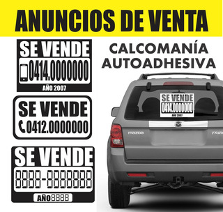 Calcomania Se Vende Carros / Instalación Gratis!