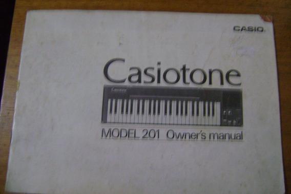 Manual Do Teclado Casiotone Modelo 201