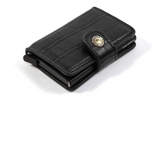 Tarjetero Billetera Automático Tropea Secret Crocco