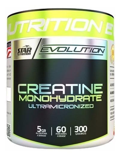 Creatina X 300 Gr Star Nutrition Monohidrato Fuerza Potencia