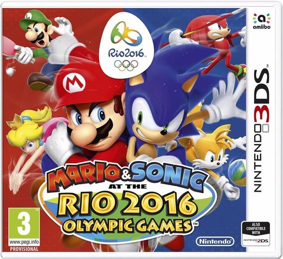 Jogo Novo Mario E Sonic Rio 2016 Olympic Games Nintendo 3ds