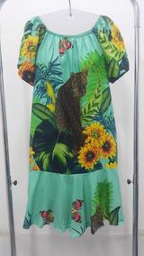 Vestido Cigana Estampado Floral Plus Size
