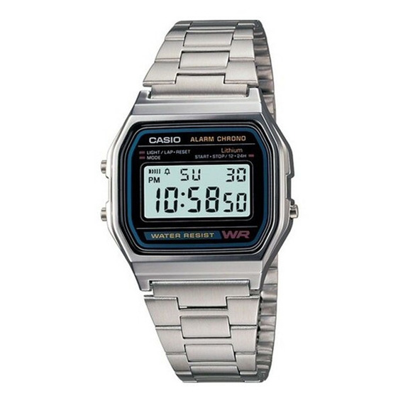Relógio Casio A158 Vintage Unissex A158wa-1df Original