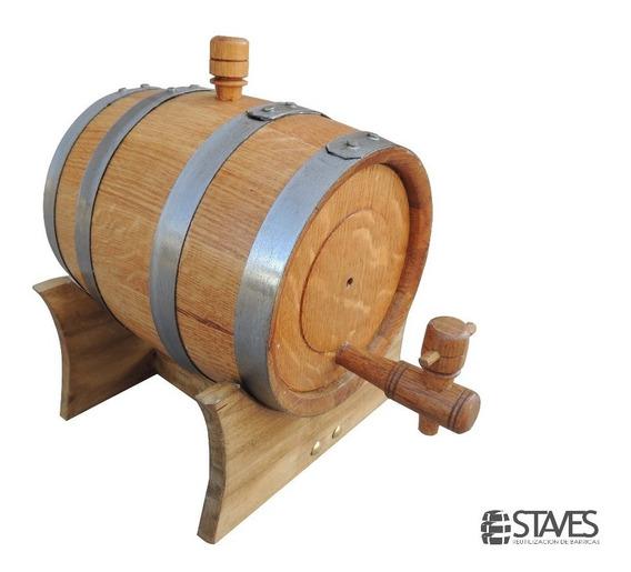 Barrica,barril,tonel De 2 Litros Para Vino O Madurar Cerveza