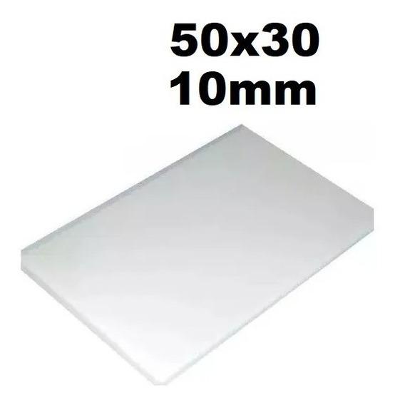 Tábua Placa De Polietileno Carnes 50x30 Espessura 10mm