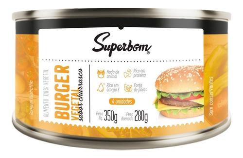Hamburguer Vegano 350g - Superbom.