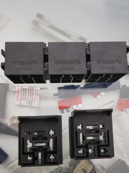 5 X Porta Relé 5vias Volvo 977184 Base + 25 Terminais
