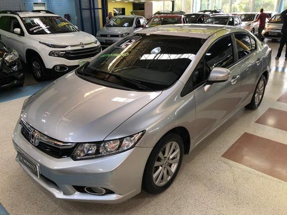 Honda Civic Lxl 1.8 Flex Automático 2012 * C/ Bcos De Couro