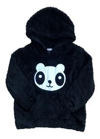 Blusa De Frio Infantil Pelinho Panda E Paris Feminina Linda