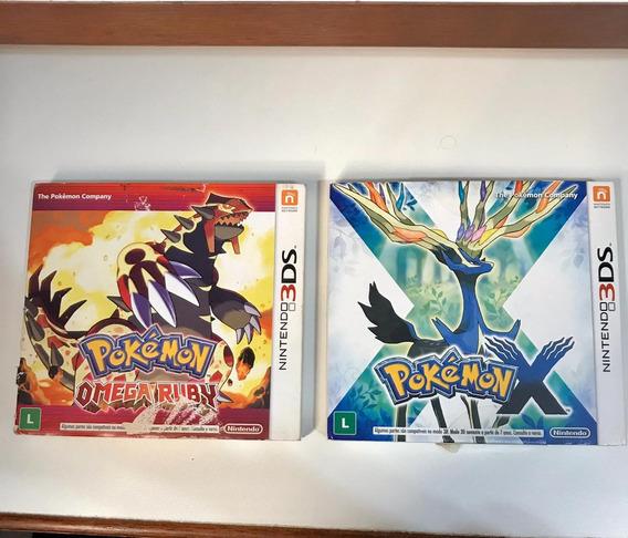 Pokémon Ômega Ruby + Pokémon X (nintendo 3ds)