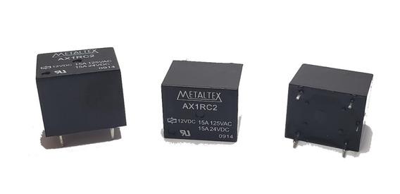 Rele Metaltex Ax1rc2 12v 15a 125vac (25 Peças)