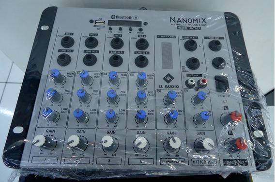 Mesa De Som 6 Canais Llaudio Nanomix Na702r Bt Usb Oferta