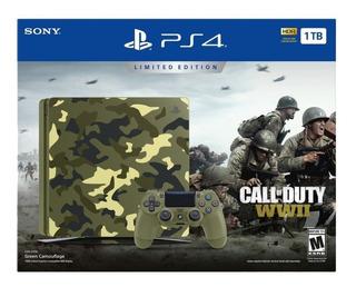 Consola Ps4 Slim 1tb Edición Call Of Duty Ww2 Fisico