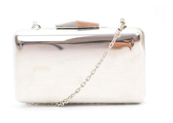 Bolsa Clutch Metalizada Lisa Para Festa Fashion