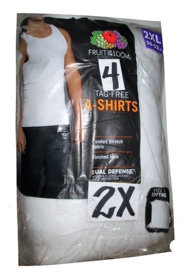 Camisetas Blancas De Tirantes Talla 2x Fruit Of The Loom