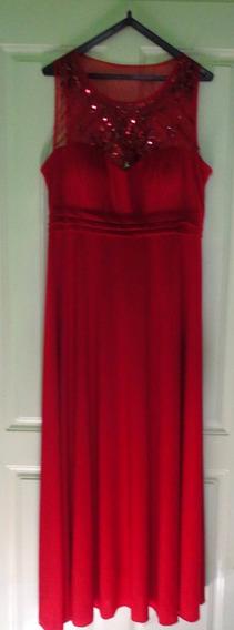 Vestido Largo Elegante Rojo Fiestas Egresadas Madrinas
