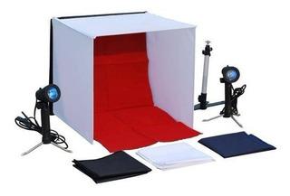 Set Estudio Fotográfico Profesional Portátil Con Accesorios+