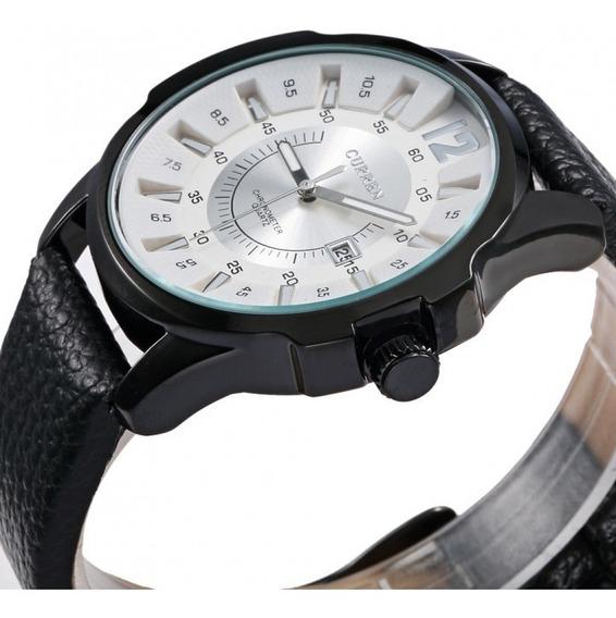 Relógio Social Casual Masculino Curren Couro 8123