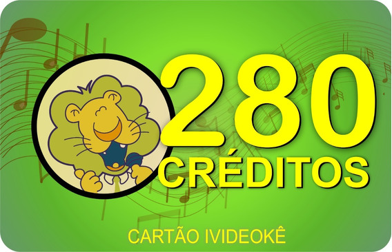 Videoke Cartão Pré-pago 280 Crédito P/ Vsk1.0/vsk2.0/vsk3.0