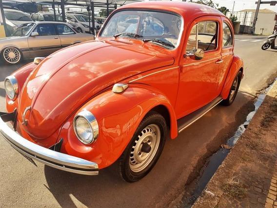 Fusca 1975 Vermelho Placa Preta Interior Caramelo