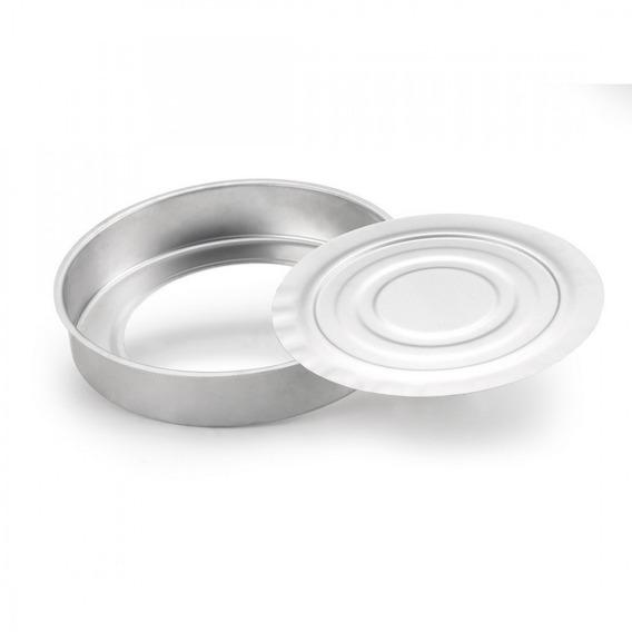 Forma Assadeira Fundo Removível Nº 25 Alumínio Polido 27c