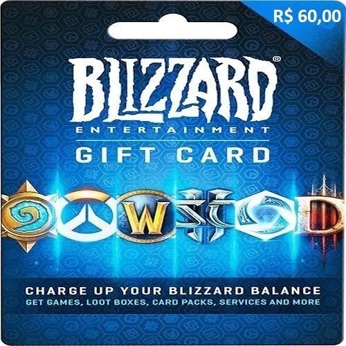 Gift Card Blizzard R$ 60 Reais - Envio Digital
