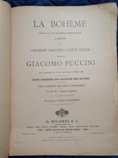 La Boheme, Giacomo Puccini. Autografiado