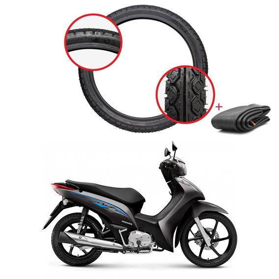 Pneu Dianteiro 60/100x17 Amazon Fast Honda Biz 125 C/ Câmara