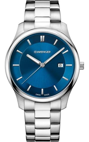 Reloj Wenger City Classic 011441117 Original Para Hombre
