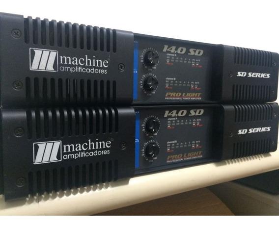 Amplificador De Potencia Machine Sd 14.0 14.000 Watts Novo