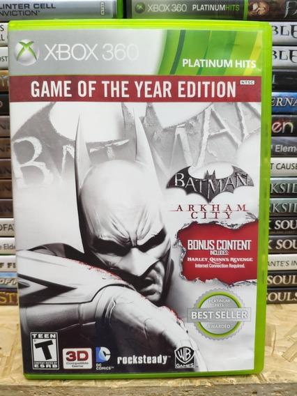 Jogo Batman Arkham City Game Of The Year Edition, Xbox 360