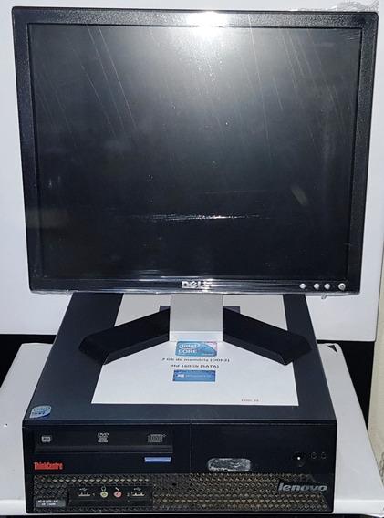 Cpu Lenovo + Monitor Dell + Teclado + Mouse = Promocao