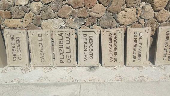 Nomenclatura Para Calles, Numeros, Cenefas, Lavavos