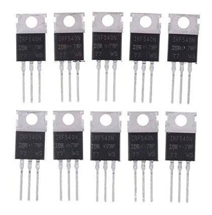 Irf540n Irf540 Ecg2396 Transistor Mosfet Potencia 10 Piezas