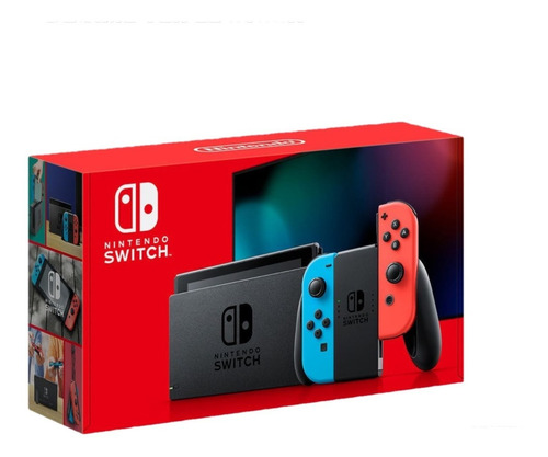 Nuevo Nintendo Switch 2019 Neon Bateria Extendida