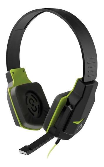 Fone Headset Gamer Para Computador P2 Preto/verde