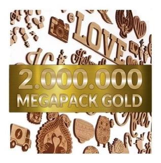 Mega Pack Gold 2.000.000 De Vectores Para Cortes Láser 2d 3d