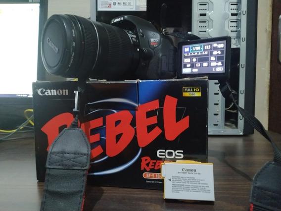 Canon T3i Lente 18:135 Super Conservada Duas Baterias Canon