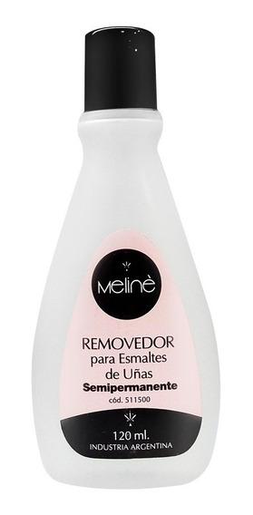 Líquido Removedor De Esmalte Semipermanente X120 Ml Meliné