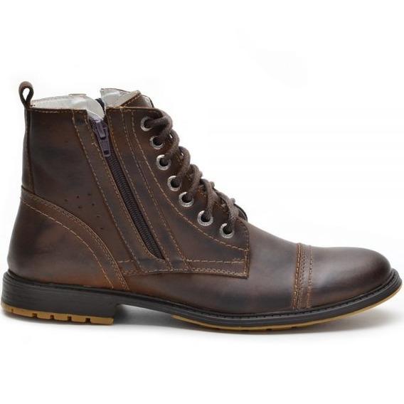 Sapato Botina Casual Social Masculino Ziper Bota Franca Cour
